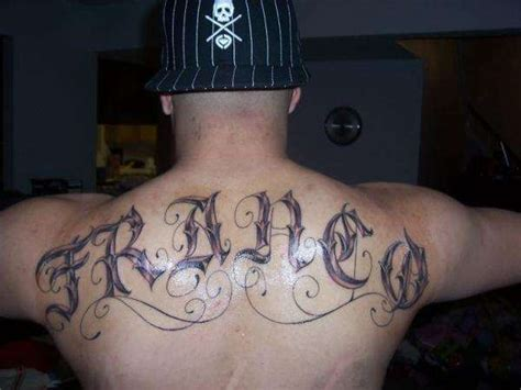 last name on back tattoo designs my last name