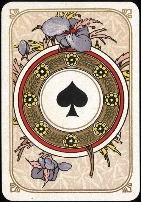 P Drawing An Ace From A Fair Deck Of Cards by Entertainment Card Ace Of Spades Nouveau