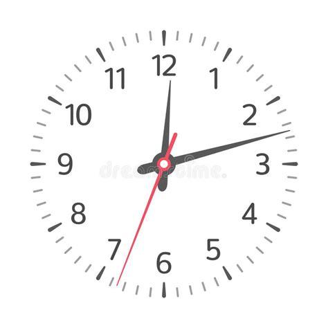 clock face vector stock vector illustration  arrow