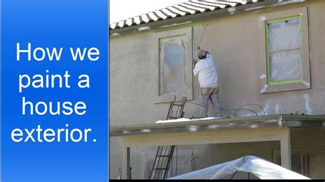 painting preparation exterior painting a house exterior using an airless sprayer to