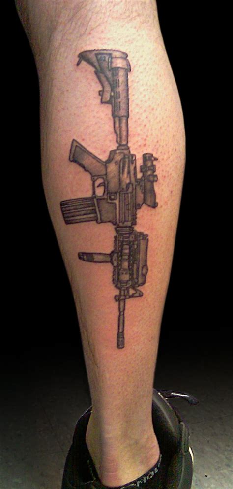 tattoos of guns collin kasyan s portfolio black and grey