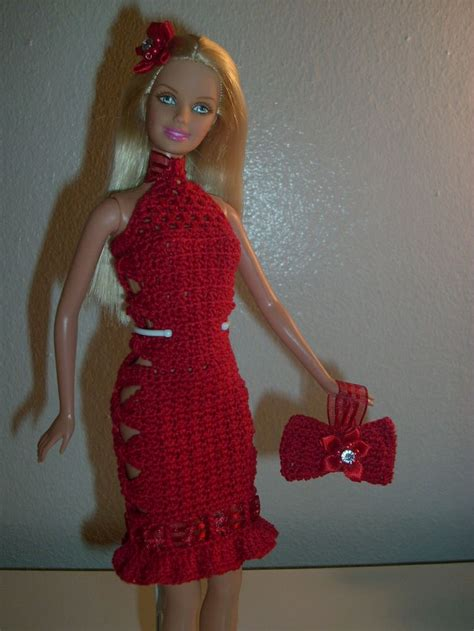 xmas pattern dress crochet for barbie the belly button body type quot ribbons