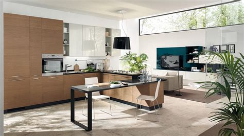Living Room Integrated Kitchen Modular Living Area Kitchen Compositions Versatile Trendy