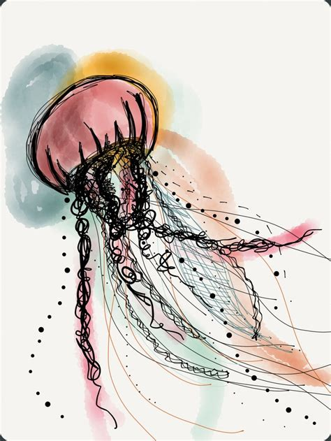 jellyfish tattoo design jellyfish colour design jellies