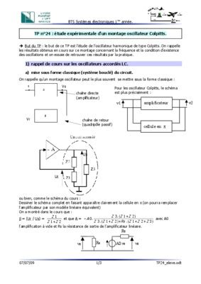 transistor npn exercices corrigés pdf oscillateur de colpitts exercice corrig 233 mouvement sur la piste