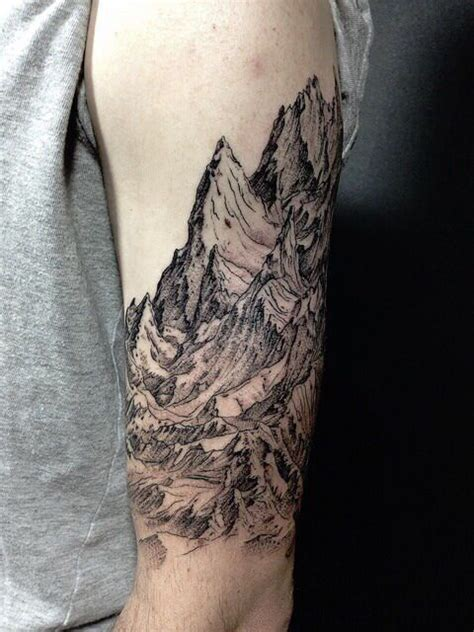 mountain arm tattoo tattoos ૐ pinterest kl 246 nt 252 r