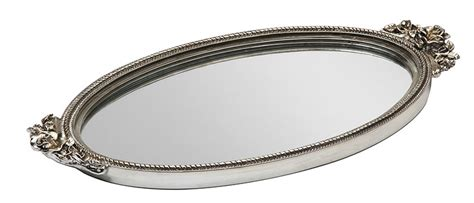 Silver Vanity Tray by Antique Mirrored Silver Vanity Tray