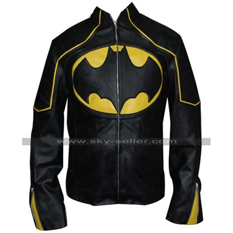 Batman Black Jaket by Batman Black And Yellow Motorcycle Leather Jacket