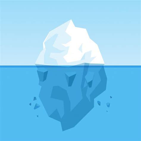 clipart iceberg iceberg vector free