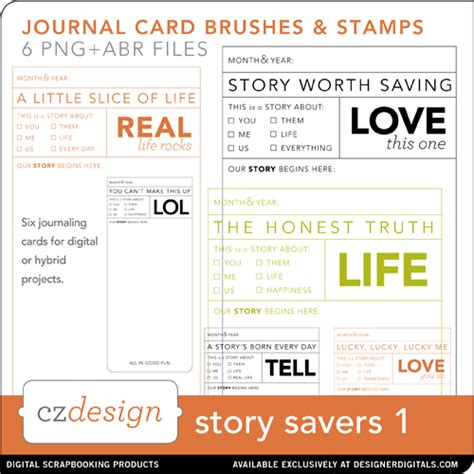 free journal card templates tutorial customizing storysaver journal cards for