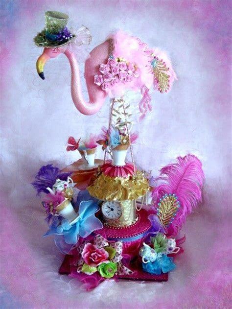 Gigantic Pink Flamingo Mad Hatter Alice In Wonderland Mad Hatter Centerpieces