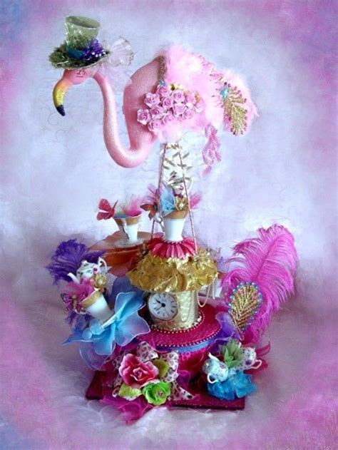 Gigantic Pink Flamingo Mad Hatter Alice in Wonderland