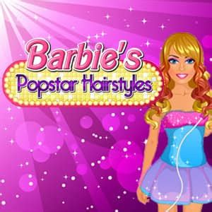 popstar hairstyles games barbie s popstar hairstyles spil funnygames dk