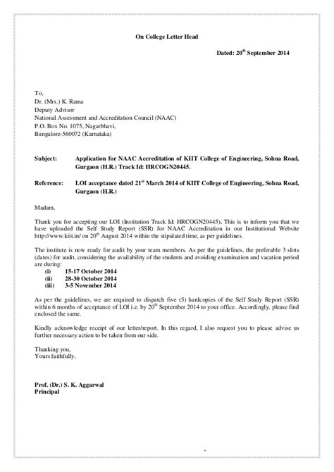 Permission Letter To Hostel Warden Self Study Report For Naac Accreditation Of Kiit College Of Engine