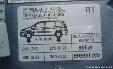 Reifendruck Auto Bar by Luftdruck Reifen Reifenluftdruck Dbv Alufelgen Und