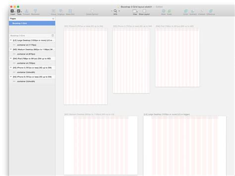 ipad grid template bootstrap grid template sketch freebie free