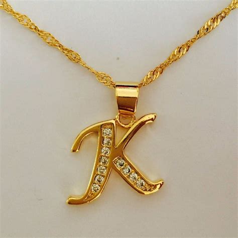 K Necklace aliexpress buy gold color necklace capital
