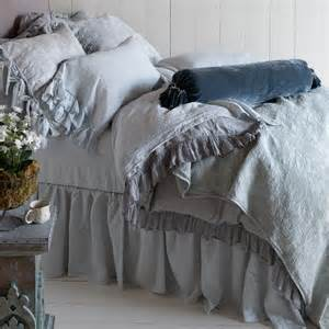 Queen Bed Duvet Size Bella Notte Dust Ruffle Linen Gathered