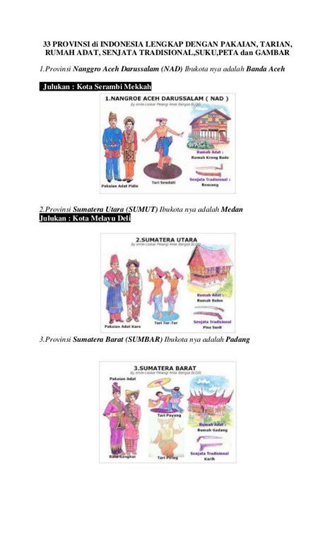 Sumatra Revolusi Dan Elite Tradisional 1 33 provinsi di indonesia lengkap dengan pakaian