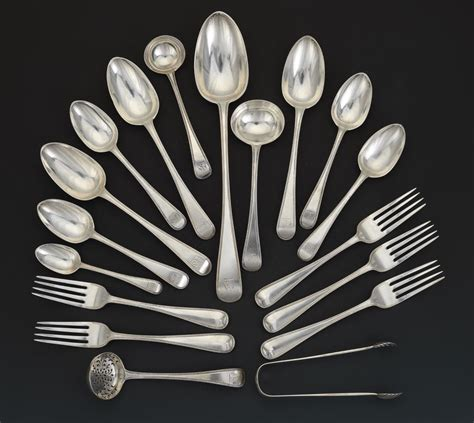 old english pattern cutlery a victorian sterling silver partial flatware set in quot old