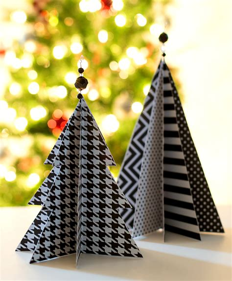 paper christmas treecraft craft idea paper trees