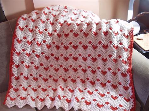 sweetheart reversible ripple afghan pattern afgano sweetheart ripple o de san valent n