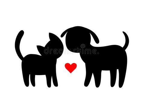 Cat And Dog Silhouette Clip Art – 101 Clip Art Hot Dog Clipart Black And White
