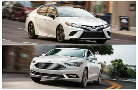 compare ford fusion to toyota camry 2018 toyota camry vs 2018 ford fusion to u s