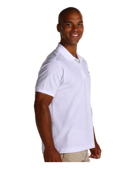 T Shirt Lacoste White 0 1 Buy Side lacoste l1212 classic pique polo shirt in white for lyst