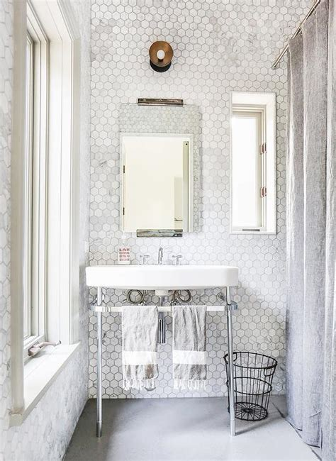 marble bathroom wall tiles marble hex tiled bathroom walls transitional bathroom