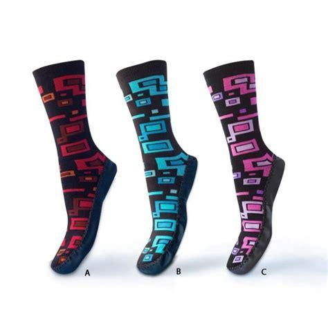 moccasin slipper socks womens soxo s moccasin slipper socks with squares mix
