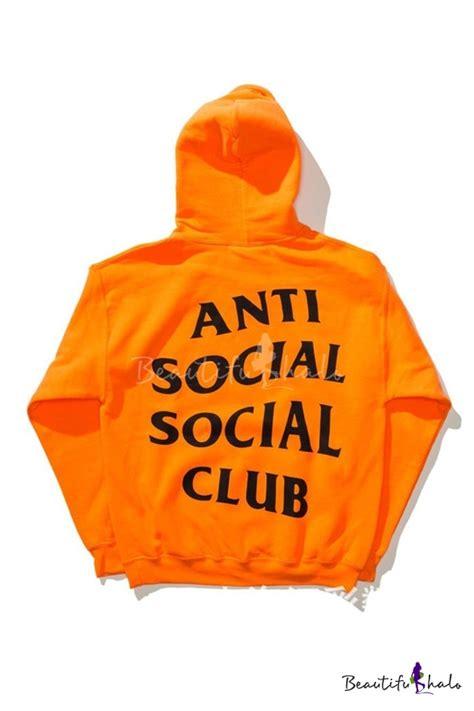 Jaket Hoddie Skate Anti Sosial Club Keren unisex anti social social club letter printed back hooded