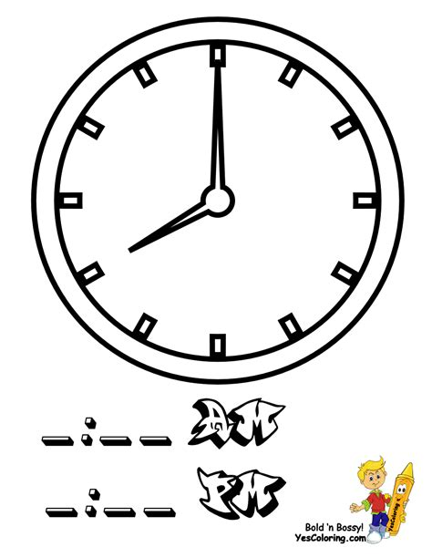 Superior Church Wall Clocks #1: 08_clock_coloringkidsboys.gif