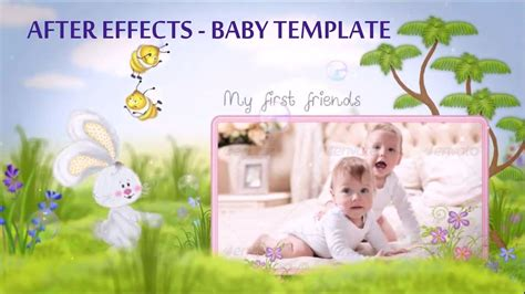 after effects free templates baby baby slideshow after effects template youtube