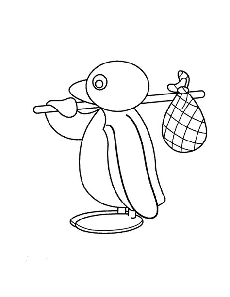 Kleurplaat Pingu » Animaatjes.nl