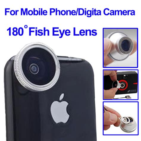 Lensa Cembung Smartphone fisheye wide angle 180 degree lens for iphone 4 mobile phone digital