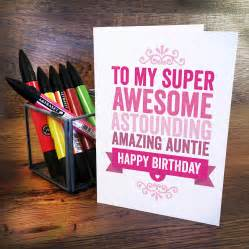 personalised birthday card for auntie by a is for alphabet notonthehighstreet