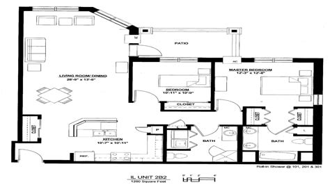 4 Bedroom Ranch Floor Plans Luxury 2 Bedroom Apartment Floor Plan Luxury 2 Bedroom