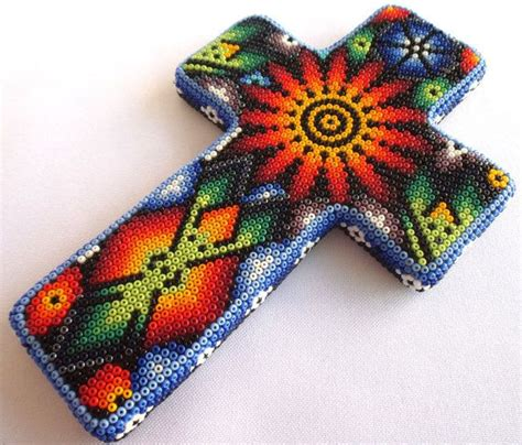 huichol bead symbols huichol beaded crucifix cross by aramara on etsy 13 my