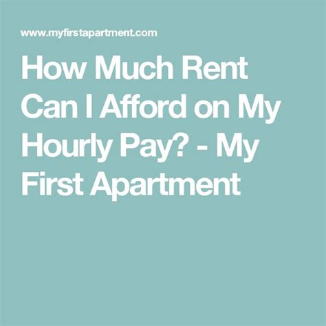 how much is it to rent a apartment in iowa how much rent can i afford on my hourly pay inspiration