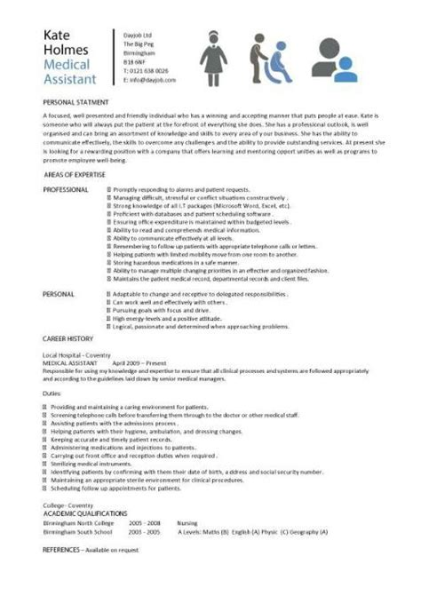 assistant resume sles template exles cv cover letter description hospital