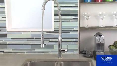 pro kitchen faucet grohe 32951000 k7 semi pro kitchen faucet