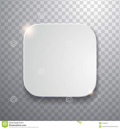 blank app icon template with flatted white texture stock