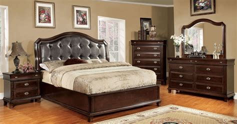 bedroom furniture leather arden brown cherry faux leather bedroom set from furniture