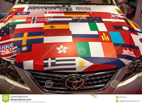 products of toyota company flags of all nations chongqing auto show toyota on the
