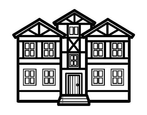 imagenes para pintar la casa dibujo de casas para colorear dibujos net