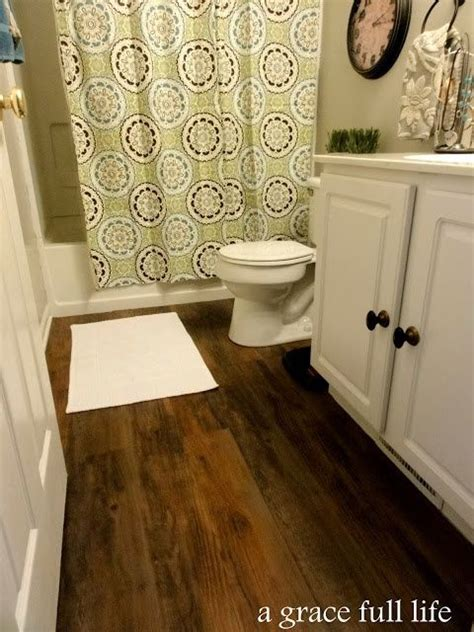 vinyl plank in bathroom peel and stick vinyl wood plank flooring stick and peel