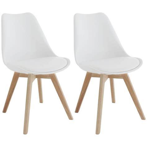 buy habitat jerry pair  white dining chairs  argosco