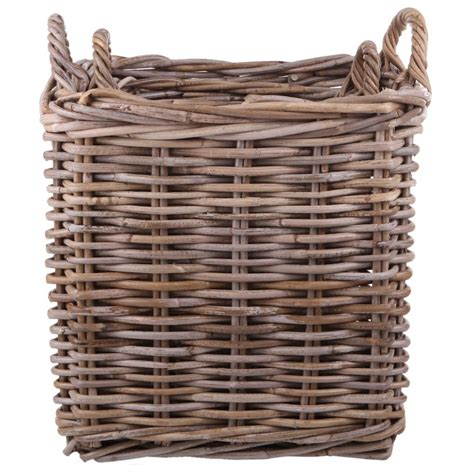 Fireplace Log Baskets by Buy Garden Trading Square Rattan Log Baskets Set Of 2