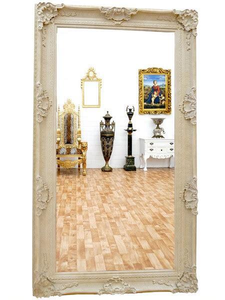 Grand Miroir Baroque by Grand Miroir Baroque En Bois Blanc 234x134 Cm Loches